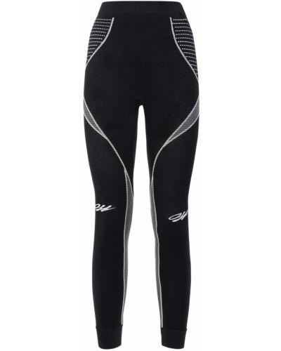 Czarny legginsy elastyczny Off-white