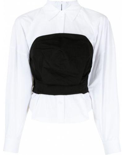 Biała koszula z długimi rękawami Pushbutton