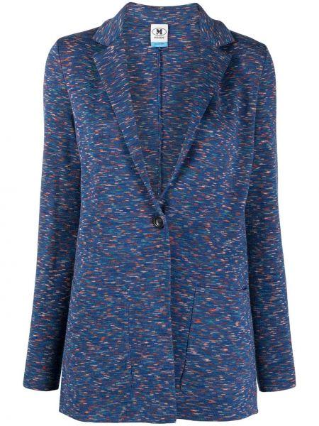 Синий удлиненный пиджак твидовый на пуговицах M Missoni