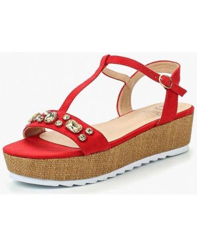 Красные сандалии замшевые Kylie