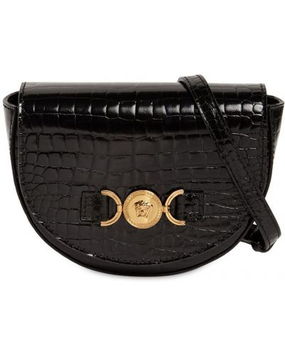 Czarna torebka skórzana Versace