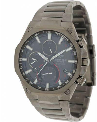 Серебряные часы круглые на кнопках G-shock