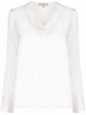 Biała bluzka z dekoltem w serek Antonelli