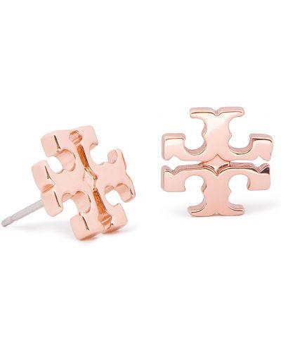 Kolczyki ze sztyftem metal różowy Tory Burch