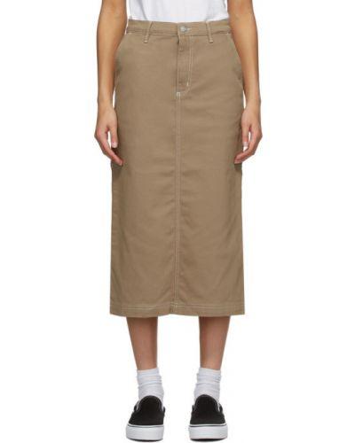 Srebro bawełna bawełna spódnica z paskiem Carhartt Work In Progress