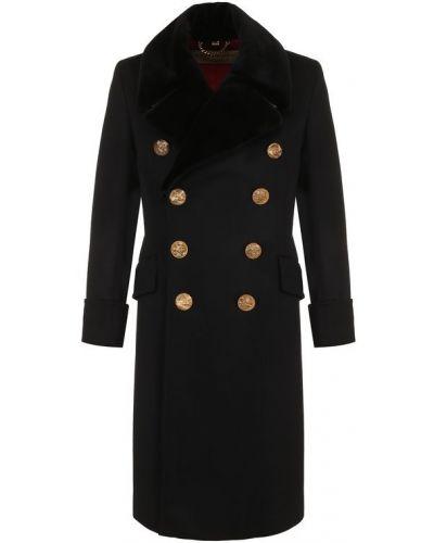 Пальто с мехом двубортное свободное Burberry