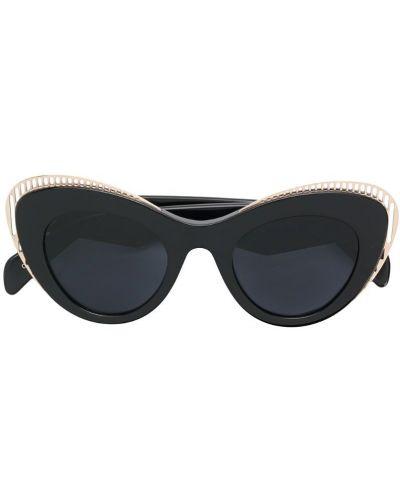 Солнцезащитные очки кошачий глаз черные Oxydo