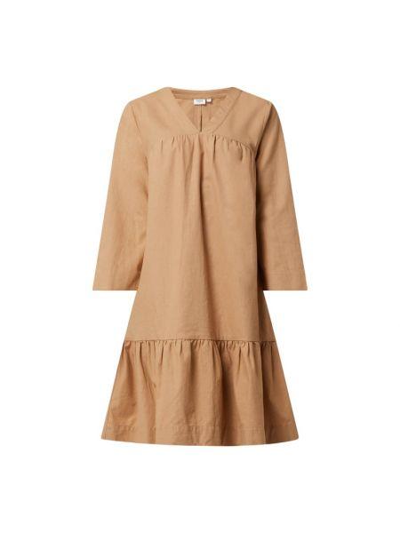 Sukienka rozkloszowana - beżowa Saint Tropez