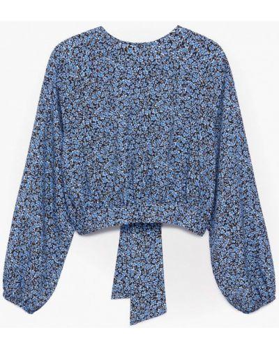 Синяя блузка Mango Kids