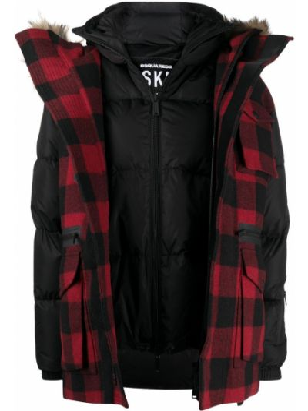 Куртка с капюшоном - черная Dsquared2