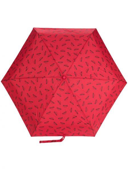 Зонт с принтом - красный Moschino