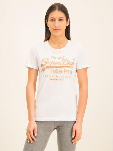 T-shirt - biała Superdry