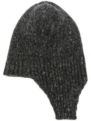 Шерстяная шапка бини - серая Rundholz