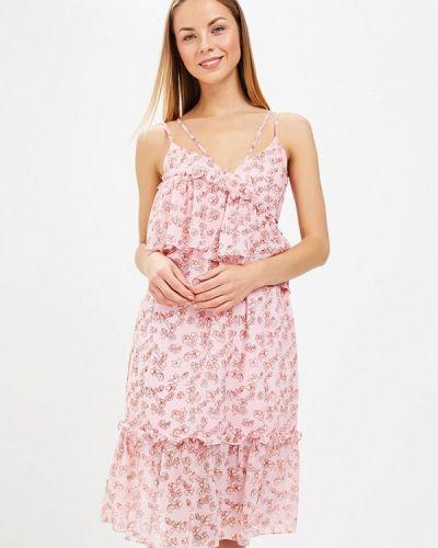 Прямое розовое платье Lost Ink.