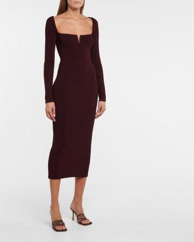 Sukienka z wiskozy bordowa Galvan