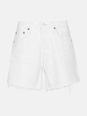 Klasyczne białe jeansy bawełniane Agolde