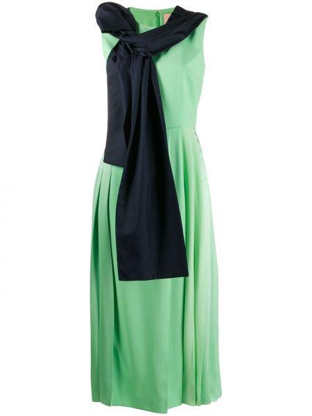 Zielona sukienka mini z wiskozy Roksanda
