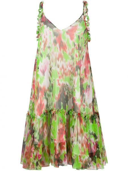 Платье с V-образным вырезом трапеция Msgm