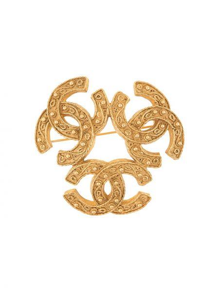 Broszka pozłacany ze złota Chanel Pre-owned