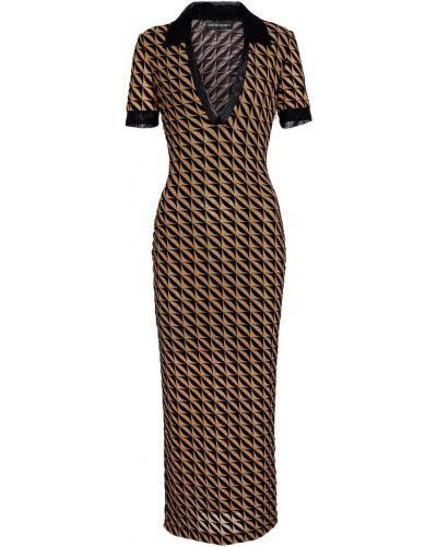 Облегающее платье миди - черное David Koma