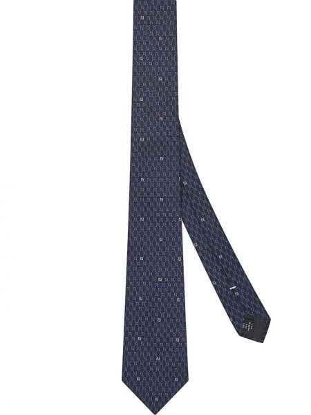 Jedwab niebieski krawat Fendi