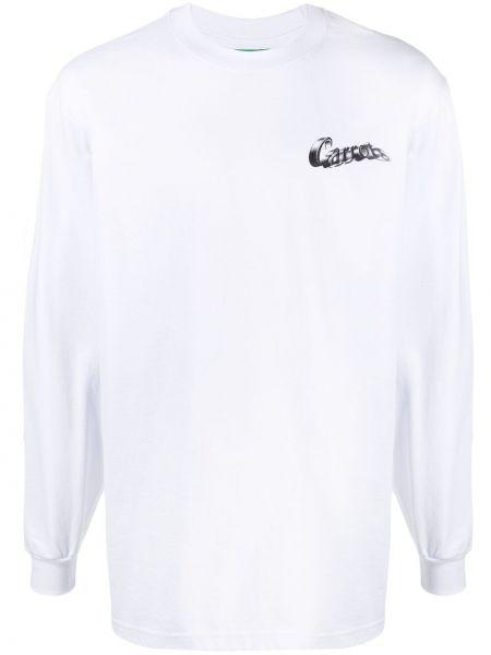 Biała bluza długa bawełniana z długimi rękawami Carrots