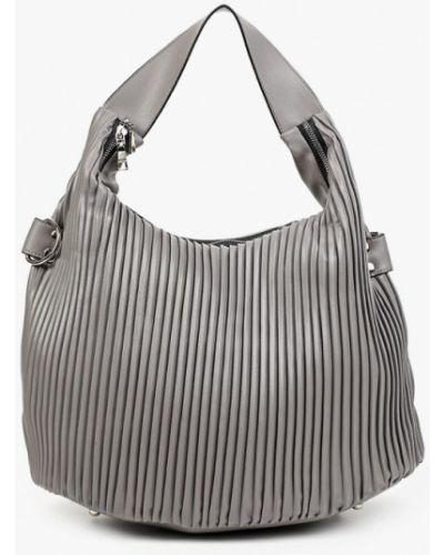 Кожаная сумка - серая Keddo
