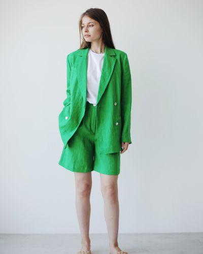 Льняной пиджак - зеленый Stl.katin