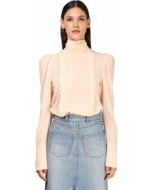 Różowa koszula z długimi rękawami z jedwabiu Givenchy