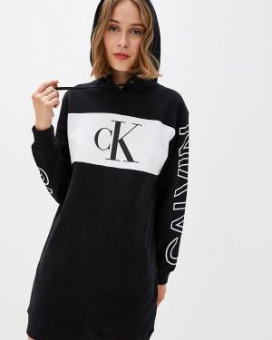 Джинсовое платье платье-толстовка Calvin Klein Jeans
