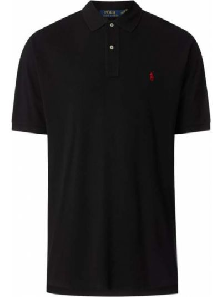 T-shirt bawełniana - czarna Polo Ralph Lauren Big & Tall