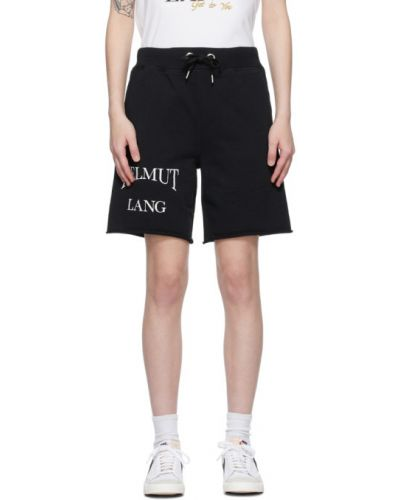 Черные шорты с карманами с манжетами Helmut Lang