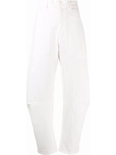 Белые брюки с поясом Nili Lotan