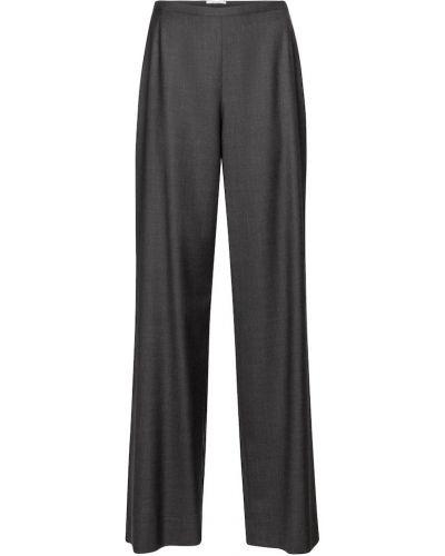 Шерстяные брюки свободного кроя на кнопках The Row