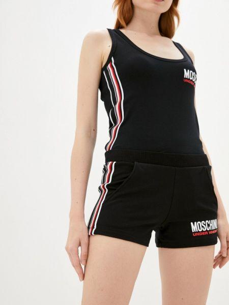 Повседневные черные шорты Moschino Underwear