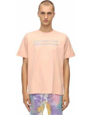 Pomarańczowy t-shirt bawełniany Klsh - Kids Love Stain Hands