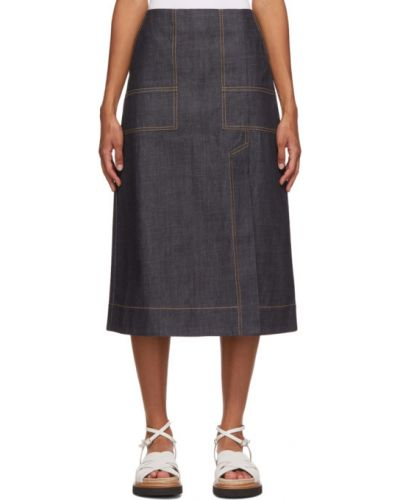 Асимметричная синяя джинсовая юбка с карманами 3.1 Phillip Lim