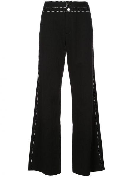 Черные широкие джинсы Josie Natori