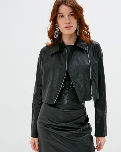Кожаная черная кожаная куртка Twinset Milano