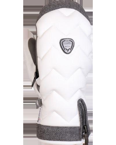 Мягкие белые перчатки Snowlife