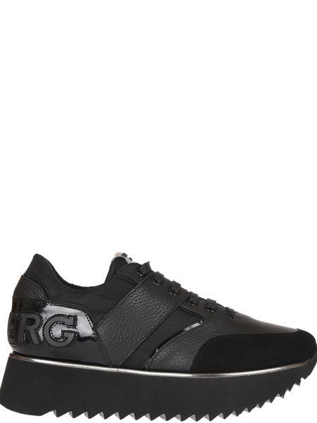 Черные кроссовки на платформе Iceberg