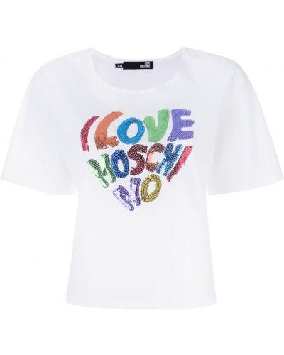 Футболка с логотипом хлопковая Love Moschino