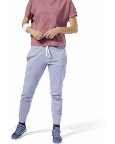Флисовые спортивные брюки - синие Reebok