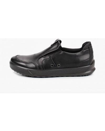 Черные кожаные эспадрильи Ecco
