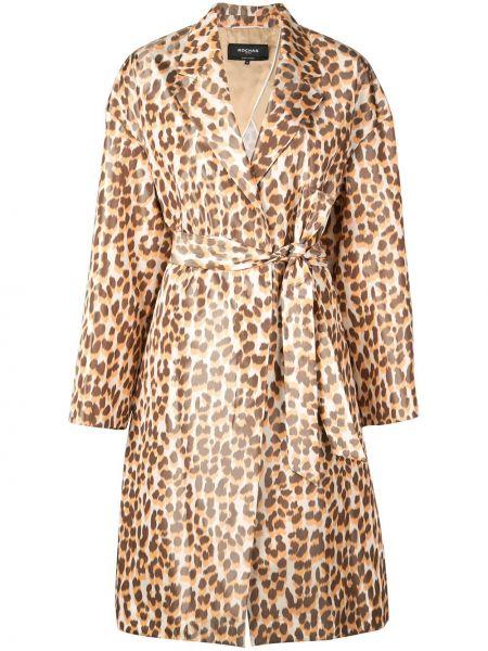 Пальто с поясом - оранжевое Rochas