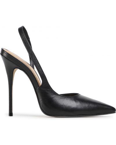 Босоножки на каблуке - черные Eva Longoria