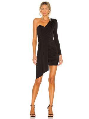 Черное платье с подкладкой с оборками Michael Costello