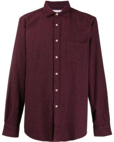 Красная классическая фланелевая классическая рубашка с воротником Portuguese Flannel