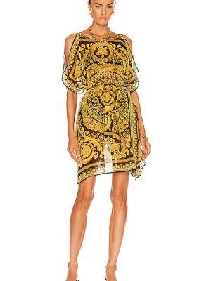 Шелковое платье - желтое Versace