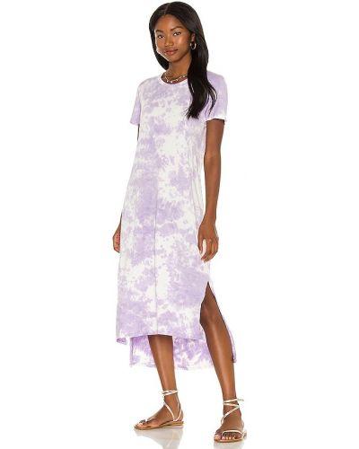 Хлопковое платье - фиолетовое Michael Lauren